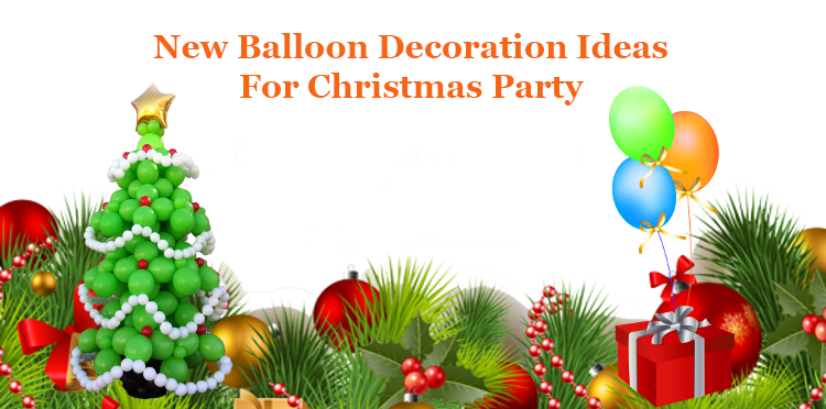 balloon decoration ideas for christmas partypng