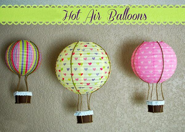 10 Hot Air Balloon Decorations Ideas For Birthday Party