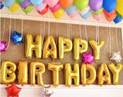 16″ Happy Birthday Foil + 40 Helium Combo