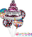 Birthday Cake Foil Combo