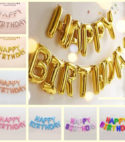 Happy Birthday Foil Letters