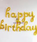 Happy Birthday Foil –  Cursive Font