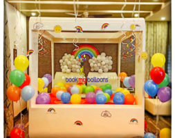 Rainbow Theme Balloon Décor