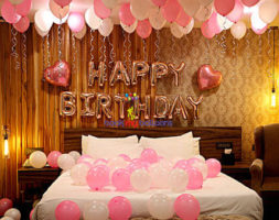 Pink Birthday Theme Balloon Déco