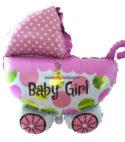 Baby Shower Pram Foil Balloons – Pink